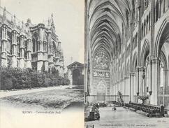 Cathédrale De Reims, Vues Intérieur Et Extérieur - Lot De 20 Cartes Non Circulées (Nef, Statues, Bas-relief, Sculptures) - 5 - 99 Karten