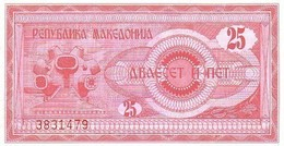 MACEDOINE   25 Denar  Emission De 1992   Pick 2     ****** BILLET  NEUF ****** - Macedonia
