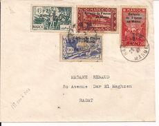 Lettre Du Maroc De 1947 Timbres Surchargés. - Storia Postale