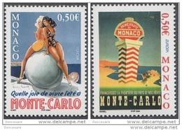 MONACO 2004 -SERIE N°2437 ET 2438 - 2 TP NEUFS** - Monaco