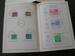 BELG.1950 834-840 Zegels Op Kaart Met Eerste Dag Stempel NL-FR 110€ - FDC