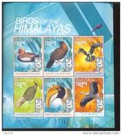 MINT NEVER HINGED MINI SHEET OF BIRDS   #   M-086-2 ( BHUTAN   1264* - Unclassified