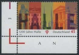 !a! GERMANY 2006 Mi. 2510 MNH SINGLE From Lower Left Corner -Town Of Halle - BRD