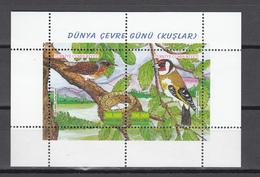Turkey 2001,2V In Block,birds,vogels,vögel,oiseaux,pajaros,uccelli,aves,postfris(L3142) - Vogels