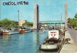Lazio-fiumicino Ponte 2 Giugno Veduta Barche Ponte Da Differente Inquadratura (1970) - Fiumicino