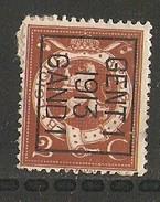Gent 1913 Typo Nr. 42Bzz Papier Rest - Vorfrankiert
