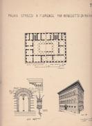 PLAN Du PALAIS STROZZI à FLORENCE (FIRENZE) - Architecture