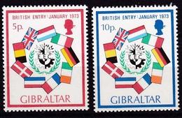 Gibraltar, 1973, 297/98, Aufnahme In Die EU.  MNH ** - Gibraltar