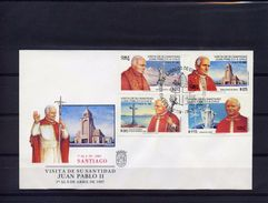 Cile 1997, Visit Of Pope J. Paul II, 4val In FDC - Chile