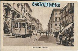 Sicilia-palermo Citta'via Roma Veduta Tram Negozi Folla Bella Animazione Anni 20 - Palermo