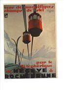 17026 - Plakat  Vers De Magnifiques Champs De Ski Par Le Téléphérique De Mégève Reproduction D'affiche (format 10X15) - Publicité