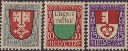 Svizzera 1919 : Pro Juventute Stemmi 173/75 MNH - Svizzera