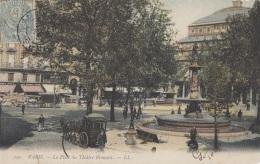 Transports - Attelage - Fiacre Calèche - LL Colorisée  - Place Du Théâtre Français Paris 1904 - Taxis & Fiacres