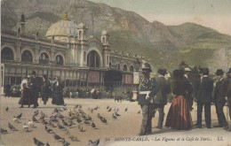 Monaco - Monte-Carlo - Place Pigeons Café De Paris - Grec Grecque - LL Colorisée - Monte-Carlo