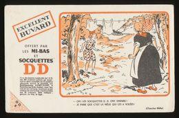 Buvard -  DD - Bas Et Soquettes - - Buvards, Protège-cahiers Illustrés