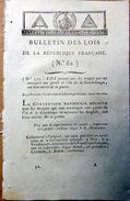GUADELOUPE DOM TOM LOI QUI HONORE LES TROUPES QUI ONT RECONQUIS LA GUADELOUPE SUR LES ANGLAIS  25 FRUCTIDORE - Documents Historiques