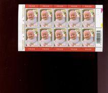 Belgie 2002 Nr 3098 Elisabeth Monarchie  Volledig Vel Plaatnummer 1 - Panes