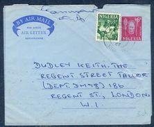 G189- Postal Used Aerogramme. Posted From Nigeria To London. England. UK. Oyo Carver. Benin Mask. - Nigeria (1961-...)