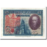 Espagne, 25 Pesetas, 1928, KM:74a, 1928-08-15, SUP - [ 1] …-1931 : Eerste Biljeten (Banco De España)