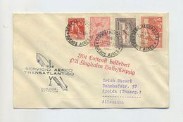 1932 Argentinien Zeppelinpost Brief Der 8. Südamerikafahrt Mit Zeppelinmarken Mi 384, 386 Rückfahrt Sieger 191 - Argentinien