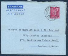 G194- Postal Used Aerogramme. Posted From Nigeria To Holland. Benin Mask. - Nigeria (1961-...)