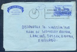 G195- Postal Used Aerogramme. Posted From Nigeria To England. UK. Animals. Leopard. - Nigeria (1961-...)