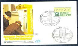 G208- Deutschland Germany Postal History Cover. ATM Machine Label Stamp. - [5] Berlin