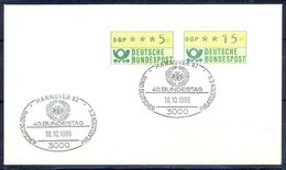 G214- Deutschland Germany Postal History Cover. ATM Machine Label Stamp. - [5] Berlin