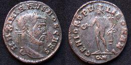 Roman Empire - AE 27 Follis Of Maximian As Caesar (286-05 AD), GENIO POPVLI ROMANI - 6. La Tétrarchie (284 à 307)