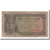 Espagne, 5 Pesetas, 1943, KM:127a, 1943-02-13, B - [ 3] 1936-1975 : Régence De Franco