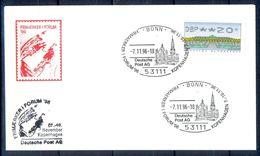 G225- Deutschland Germany Postal History Cover. ATM Machine Label Stamp. Stamp Exhibition 1996. - [5] Berlin