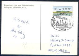 G227- Deutschland Germany Postal History Post Card. ATM Machine Label Stamp. - [5] Berlin