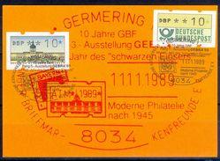 G229- Deutschland Germany Postal History Post Card. ATM Machine Label Stamp. - [5] Berlin