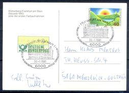 G230- Deutschland Germany Postal History Post Card. ATM Machine Label Stamp. - [5] Berlin