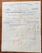 PARIS 1887 GRANDS MAGASINS DU PRINTEMPS SERVICE SPECIAL POR LE ROYAME D'ITALIE FATTURA CONTERRA MANSI ORSETTI LUCCA - Francia