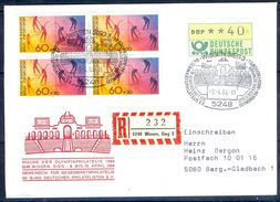 G233- Deutschland Germany Postal History Cover. ATM Machine Label Stamp. - [5] Berlin