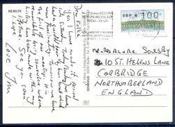 G235- Deutschland Germany Postal History Post Card. ATM Machine Label Stamp. - [5] Berlin
