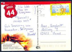 G236- Deutschland Germany Postal History Post Card. ATM Machine Label Stamp. - [5] Berlin