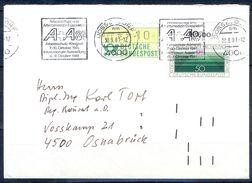 G238- Deutschland Germany Postal History Cover. ATM Machine Label Stamp. - [5] Berlin