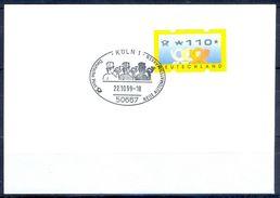 G243- Deutschland Germany Postal History Cover. ATM Machine Label Stamp. - [5] Berlin