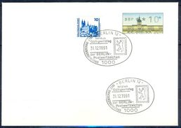 G244- Deutschland Germany Postal History Cover. ATM Machine Label Stamp. - [5] Berlin