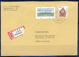 G247- Deutschland Germany Postal History Cover. ATM Machine Label Stamp. - [5] Berlin
