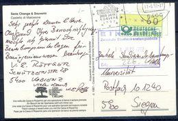 G252- Deutschland Germany Postal History Post Card. ATM Machine Label Stamp. - [5] Berlin