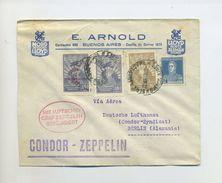 1932 Argentinien Zeppelinpost Brief Der 1. Südamerikafahrt Abart Mit Dt. Flugbestätiungsstempel Von 1930 Si 140 Var - Argentinien
