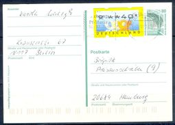 G253- Deutschland Germany Postal History Post Card. ATM Machine Label Stamp. - [5] Berlin