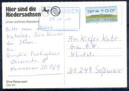 G255- Deutschland Germany Postal History Post Card. ATM Machine Label Stamp. - [5] Berlin