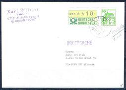 G257- Deutschland Germany Postal History Cover. ATM Machine Label Stamp. - [5] Berlin