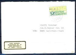G258- Deutschland Germany Postal History Cover. ATM Machine Label Stamp. - [5] Berlin
