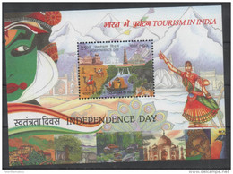 INDIA, 2016,MNH, TOURISM, BOATS, ELEPHANTS, WATERFALLS, CAMELS, COSTUMES, MOUNTAINS, INDEPENDENCE DAY, S/SHEET - Holidays & Tourism