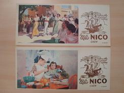 2 BUVARDS LES CAFES NICO CAEN - Café & Thé